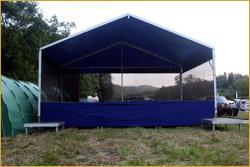 Pódium Párty 6x4 m se zastřešením