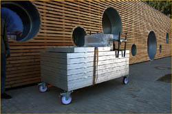 Mobilní pódium Standard - světlý buk