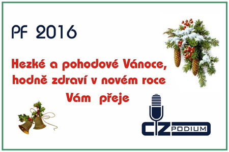 PF 2016 Cz Podium - přejeme Vám hezké vánoce a šťastný rok 2016