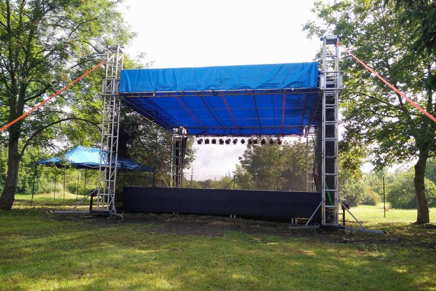 Mobilní zastřešené pódium OpenAir Light 7x7 - 7x5 m