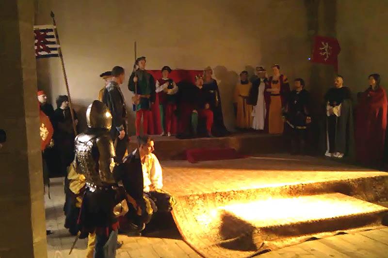 Audience v královském sále hradu Křivoklát