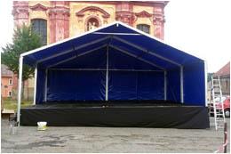 Dodávka pódia Párty 8 x 6 m