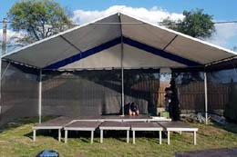 mobilní podium PÁRTY 8 x 4 m