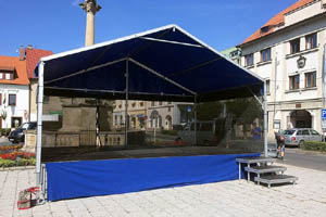 Mobilní pódium Párty 6x4 m se zastřešením