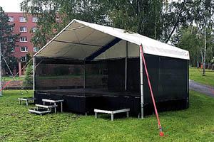 Mobilní zastřešené pódium Párty 7x4 (8x4) m