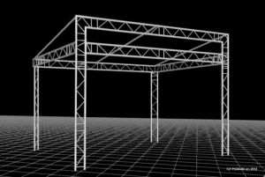 STAGE ROOF UNI 5 x 4 m